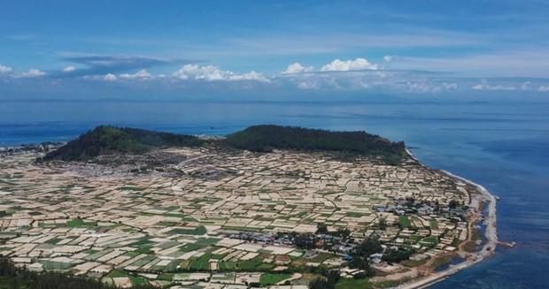组图:航拍镜头下的广义省李山岛美景 hinh anh 1
