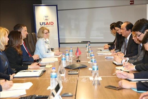 越南与美国国际开发署促进双方的合作关系向前发展 hinh anh 1