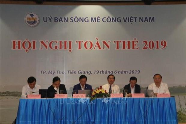 2019年越南湄公河委员会第一次全体会议在前江省召开 hinh anh 1