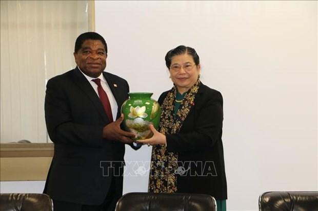 IPU-141:丛氏放同各国议会联盟秘书长和缅甸代表团团长进行双边会晤 hinh anh 1