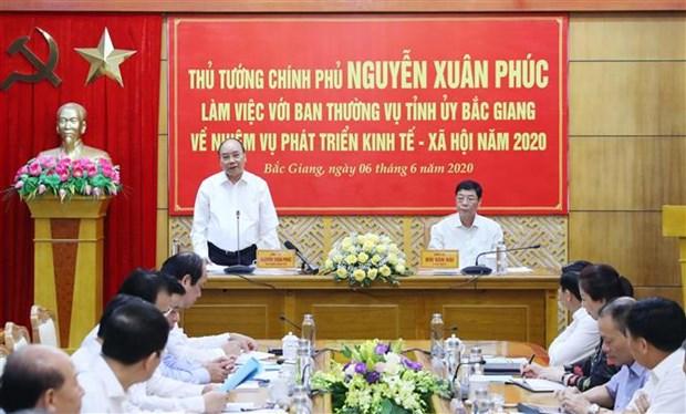 越南政府总理:北江省应对增长模式进行深度调整 hinh anh 1