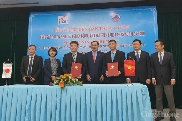 JICA协助岘港市考察并收集发展连沼港的数据 hinh anh 1