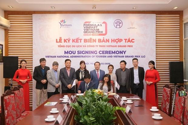 Vietnam Grand Prix与越南旅游总局合作宣传推广越南旅游景区和一级方程式锦标赛 hinh anh 1