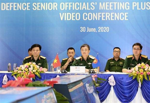 东盟防务高官扩大会议工作组召开视频会议 hinh anh 2