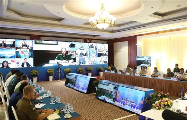 东盟防务高官扩大会议工作组召开视频会议 hinh anh 1