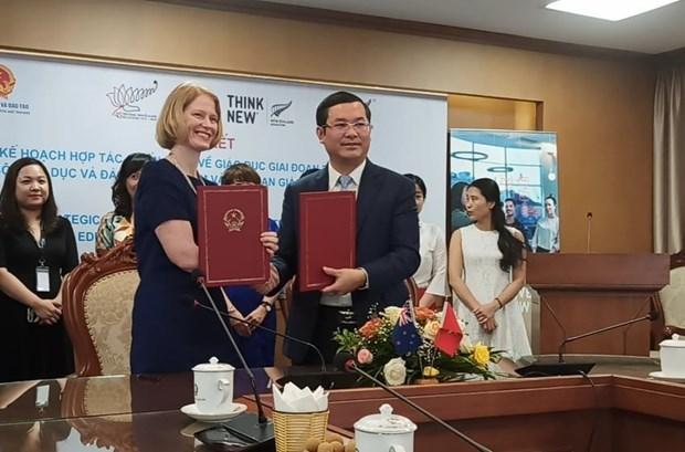 越南与新西兰签署关于教育领域的新战略合作协议 hinh anh 1