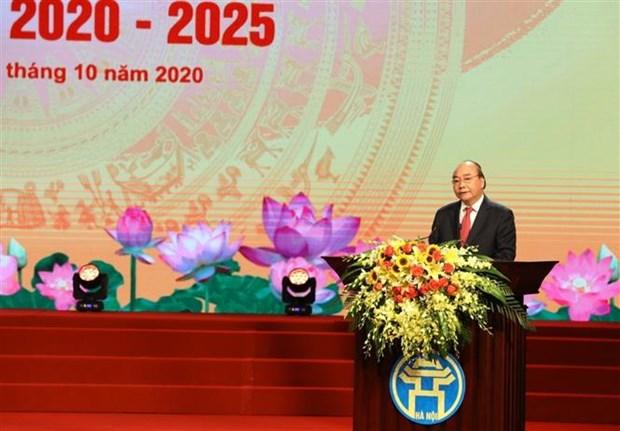政府总理阮春福:河内市继续发扬团结和改革创新传统 为建设文明和现代的首都做出努力 hinh anh 1