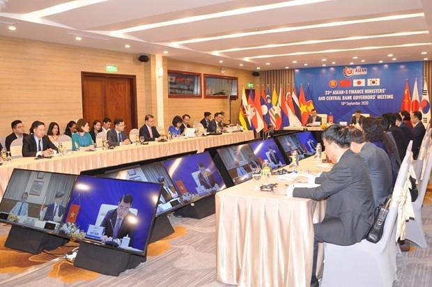 ASEAN+3就防控新冠肺炎疫情和经济复苏措施进行讨论 hinh anh 2