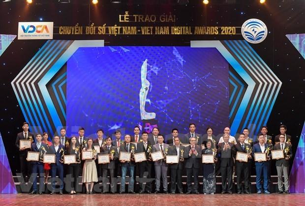 2020年越南数字奖:表彰近60名优秀企业 hinh anh 1