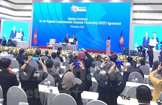 《区域全面经济伙伴关系协定协定》正式签署 hinh anh 1