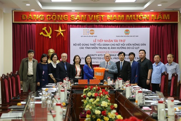 UNFPA 向越南提供5700多个紧急救助暖心包 hinh anh 1