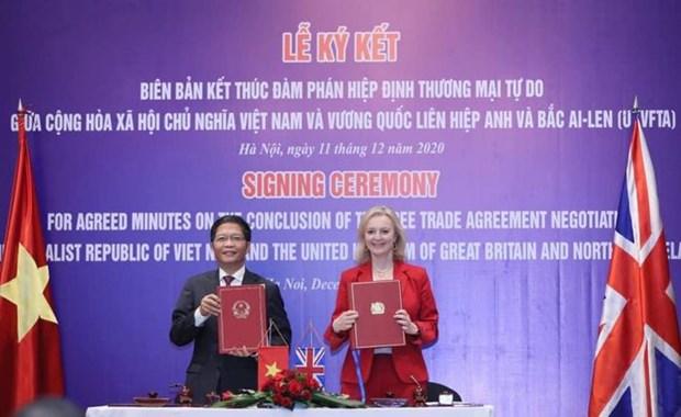 《越南—英国自由贸易协定》为越英两国贸易往来开创新机遇 hinh anh 1