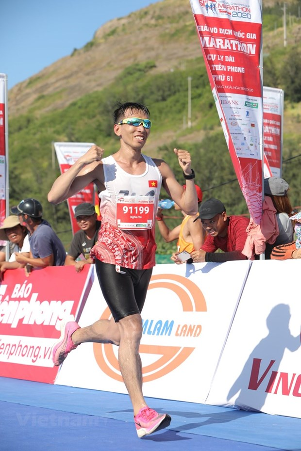 组图:2000名运动员参加在李山岛县举行的马拉松锦标赛 hinh anh 8