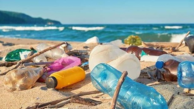 越南成为海洋塑料污染全球协议建设进程中的先锋 hinh anh 1