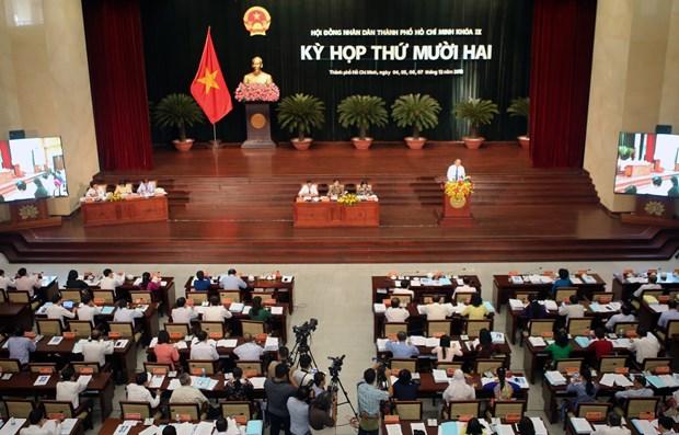 第九届胡志明市人民议会第12次会议正式开幕 hinh anh 1
