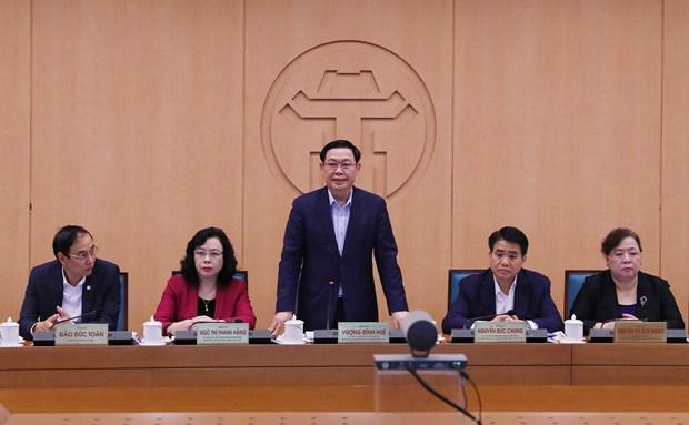 河内市市委书记王廷惠:隔离依然是新冠肺炎疫情防控的最重要措施 hinh anh 1