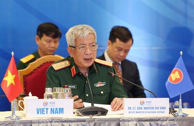 2020东盟轮值主席国年: 阮志咏上将呼吁各国对影响到区域和平稳定的安全威胁给予更多关注 hinh anh 1