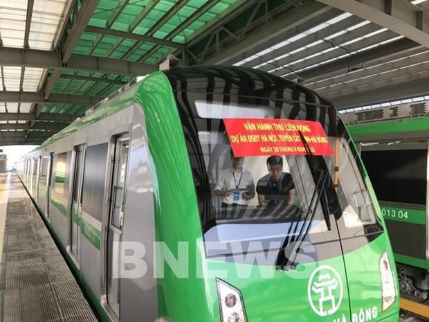 河内轻轨吉灵—河东线项目将于12月进入试运行阶段 hinh anh 1