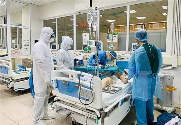越南一流医生对两例新冠肺炎危重症患者进行远程会诊 hinh anh 1