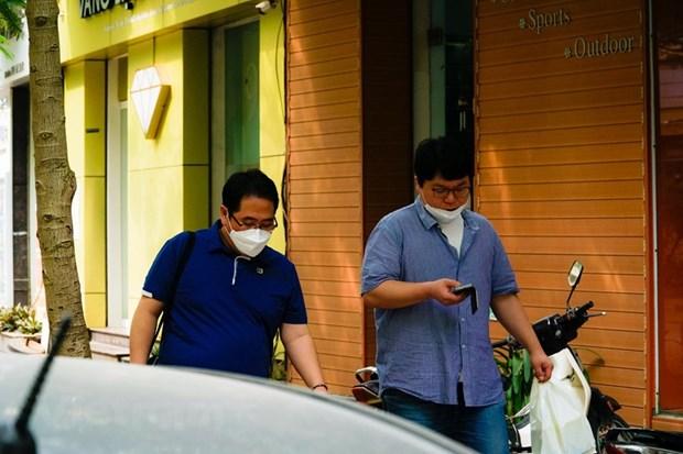 """组图:在新冠肺炎疫情不断扩散蔓延的背景下首都河内""""韩人街""""生活如何? hinh anh 11"""