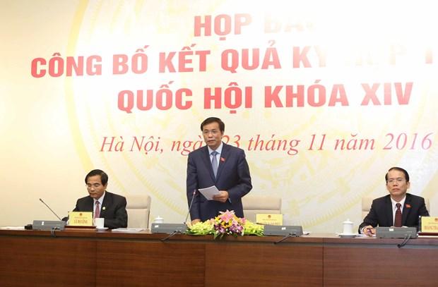 越南第十四届国会第二次会议圆满完成各项议程 hinh anh 1