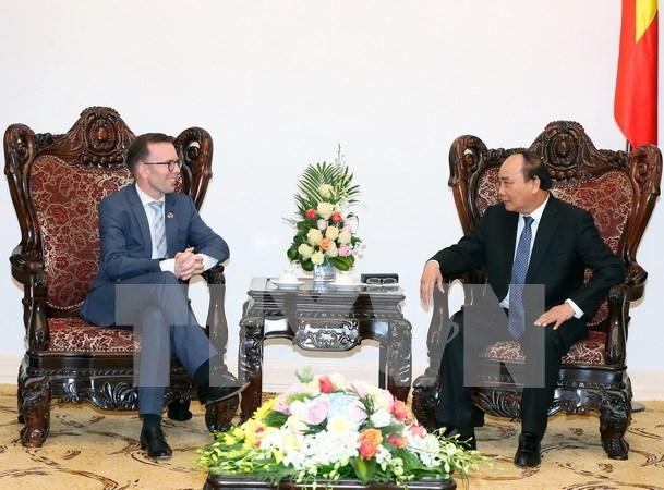 越南政府总理阮春福会见新西兰驻越大使 hinh anh 1