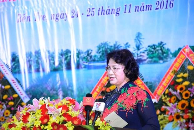 越南国会主席阮氏金银:槟椥省妇女应积极发扬同起运动精神 hinh anh 1