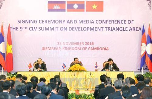 越老柬三国总理公布CLV 9 峰会结果 hinh anh 1