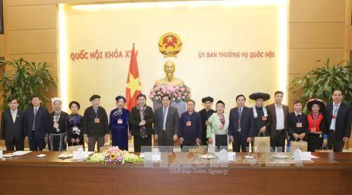 越南国会常务副主席丛氏放会见高平省少数民族先进模范代表团 hinh anh 1
