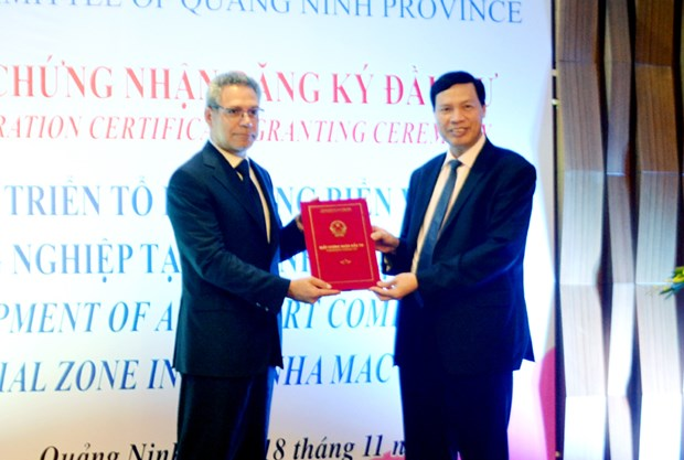 三个国际投资商合资在越南广宁省建港 hinh anh 1