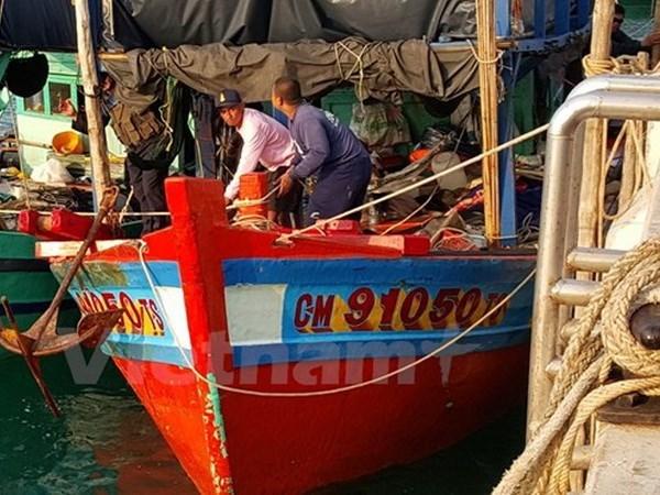 泰国扣押9名越南渔民 hinh anh 1