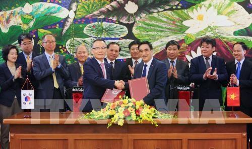 越南与韩国签署总额为7700亿美元的信贷协定 hinh anh 1