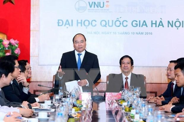 越南政府总理阮春福:河内国家大学需率先制定创业计划 hinh anh 1