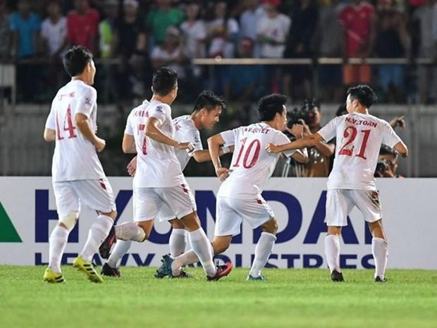 FIFA最新排名:越南队上升7位 居世界第129位 hinh anh 1