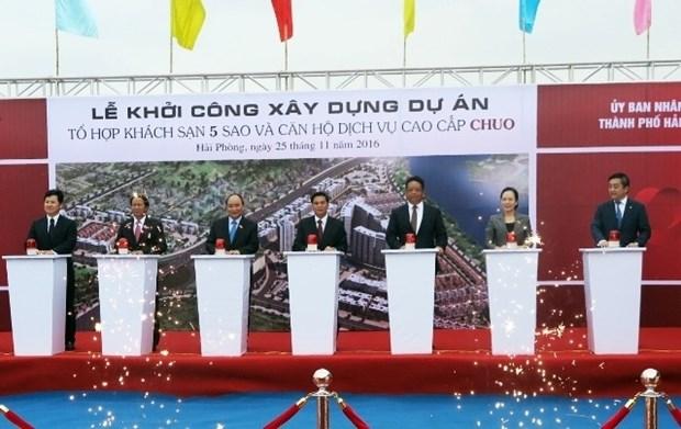 日资企业在海防市动工兴建五星级酒店、高档公寓项目 hinh anh 1