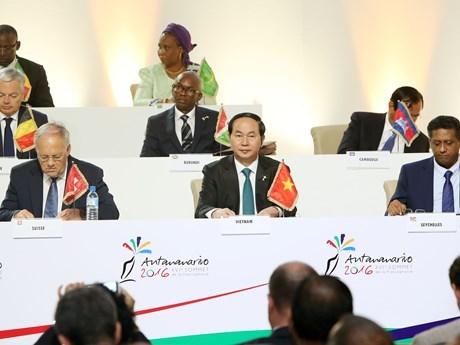 越南国家主席陈大光: 越南愿为加强法语国家国际组织与东盟乃至亚太的合作搭建桥梁 hinh anh 1
