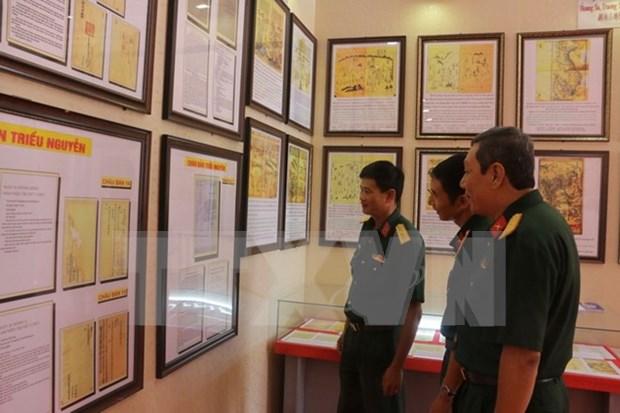 黄沙、长沙群岛归属越南地图资料展 弘扬爱国主义 hinh anh 1