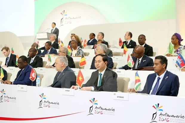 第16届法语国家组织峰会闭幕 hinh anh 1