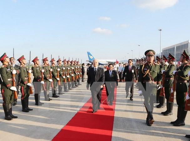 老挝领导:阮富仲对老挝进行的正式友好访问取得圆满成功 hinh anh 1