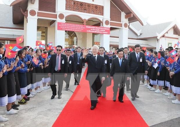 越共中央总书记阮富仲圆满结束对老挝进行正式友好访问 hinh anh 1