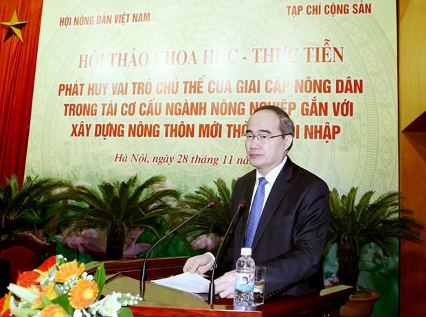 阮善仁主席:发展合作社模式是保障农民主体作用的基础 hinh anh 1