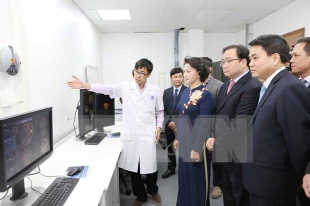 国会主席阮氏金银出席河内消化科与高科技中心揭牌仪式 hinh anh 1
