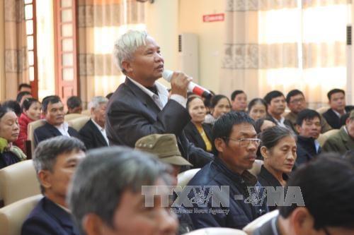 越南党及国家领导纷纷开展与各地选民接触活动 hinh anh 1