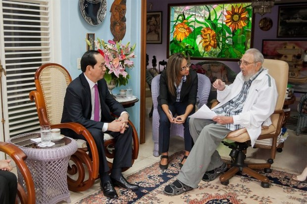 与古巴领袖菲德尔•卡斯特罗的最后一次会面 hinh anh 1