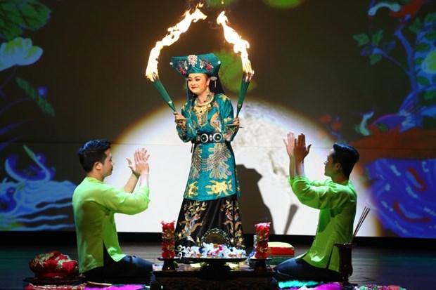 服装在越南跳神礼仪中的作用 hinh anh 1