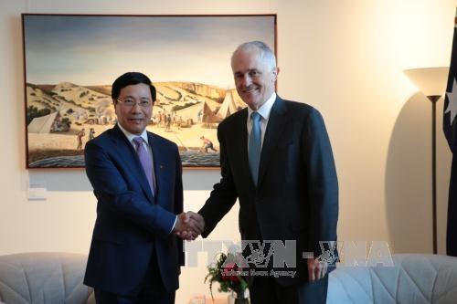 越南政府副总理范平明访问澳大利亚 hinh anh 2