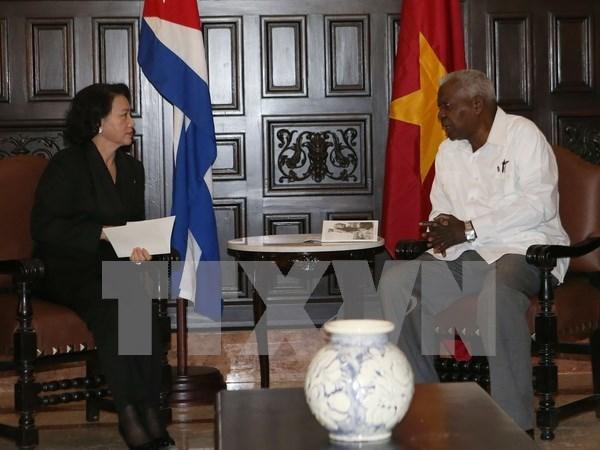 越南国会主席阮氏金银在古巴开展的系列活动 hinh anh 1