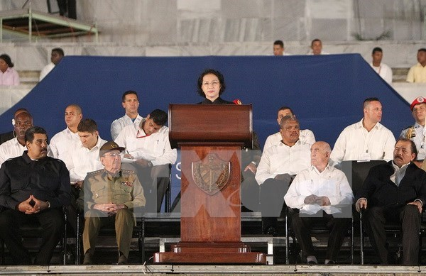 越南国会主席阮氏金银在古巴开展的系列活动 hinh anh 2