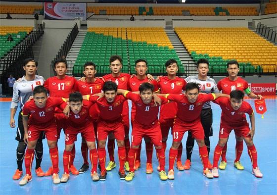 越南五人制足球队参加在中国举行的国际四强赛 hinh anh 1