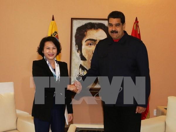 越南国会主席阮氏金银会见委内瑞拉总统尼古拉斯·马杜罗 hinh anh 1